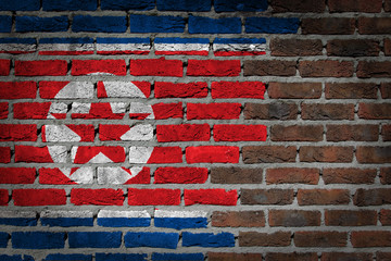 Dark brick wall - North Korea