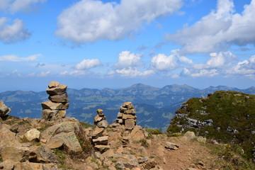 Steinmännchen auf dem Diedamskopf - Bregenzerwald