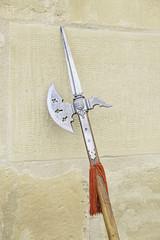 Old medieval spear