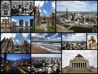 Melbourne - travel photos collage