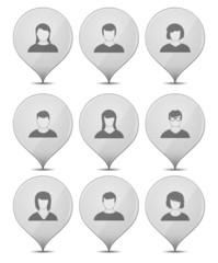 Icons Set Heads