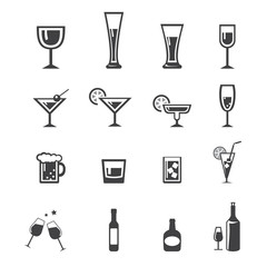 vector.drink icon set