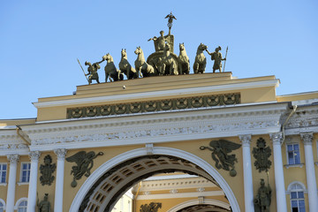 Triumphal Arch of General Staff Building in Saint Petersburg
