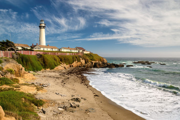Lighthouse, Pacific coast