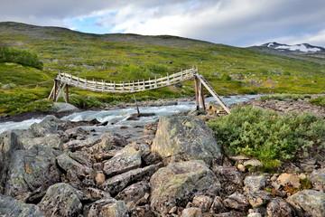 Norwegia , mostek, krajobraz wiejski