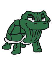 Kleine coole alte Schildkröte