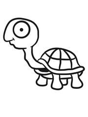 Lustige kleine süße Schildkröte