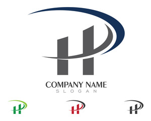 HD, HP, H, P Logo template 1