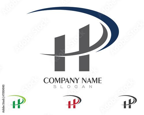 HD, HP, H, P Logo template 1\