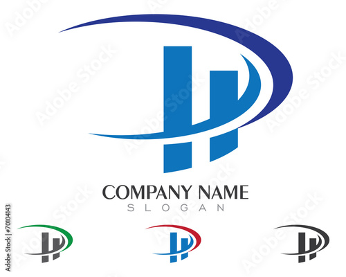 hd hp h p logo template 3 stock image and royalty free vector
