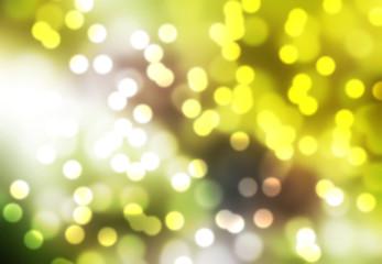 boken blur of green leaf natural background