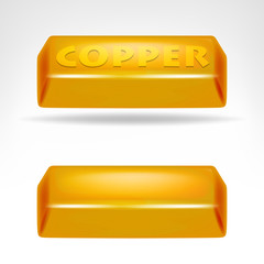 copper bar 3D design isolated