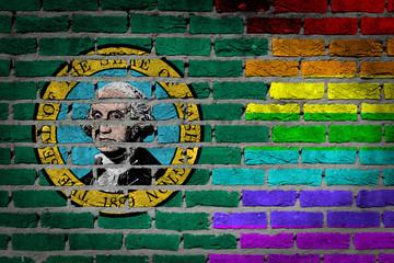 Dark brick wall - LGBT rights - Washington