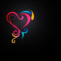 Shining heart in the dark