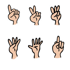 Hand and fingers count
