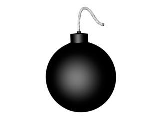 bombe sur fond blanc