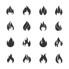 Fire black icons