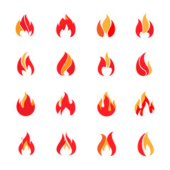 Fire color icons
