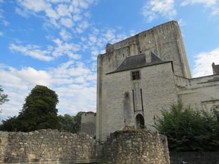 Indre et Loire - Loches - Entrée du château et donjon