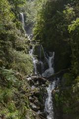small waterfall in mountain