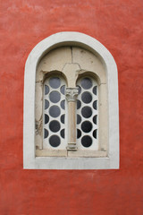 A mullioned window in the monastery Zica, Serbia