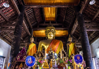 The Golden Buddha statues.