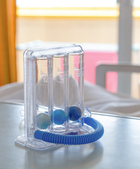 Three balls Incentive Spirometer for deep breathing
