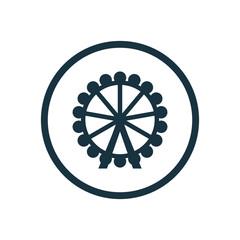 ferris wheel circle background icon.