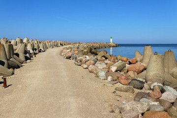 Breakwater in Venspils.