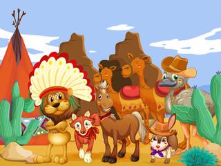 Animals and desert