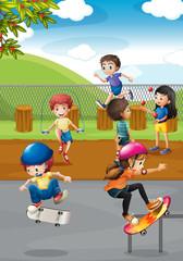 Children and playground
