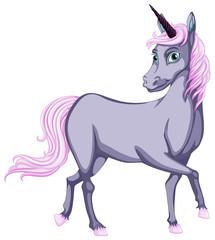 Grey unicorn