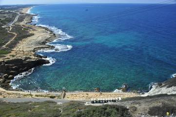 View south from Rosh Hanikra, Israel