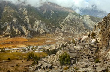 Braga, little village in the Himalayas, Annapurna Conservation A