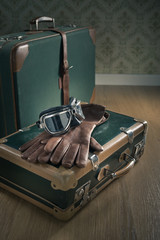 Aviator vintage luggage