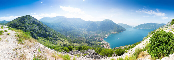 View of Boka-Kotor Bay, Montenegro