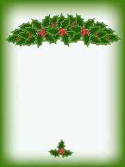 christmas card background with holly
