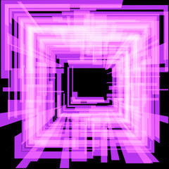 Abstract purple square. Raster