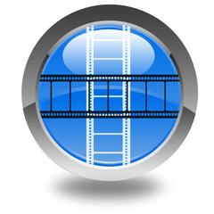 pellicule de film sur bouton