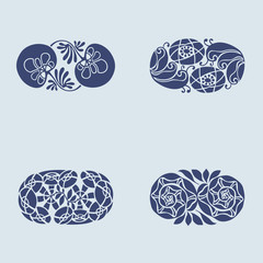 Floral design elements and page decoration.