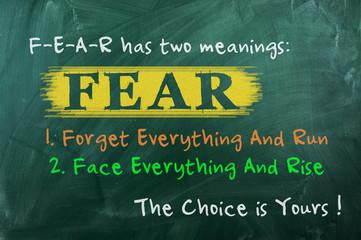 fear concept choice Wall mural