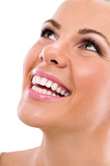 young woman with great healthy teeth
