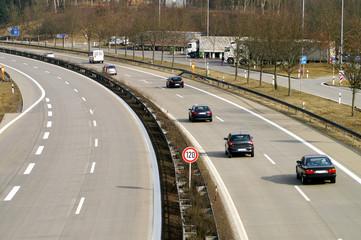 Fototapete - Zweispurige Autobahn