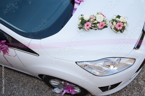 Décoration de voiture, mariage