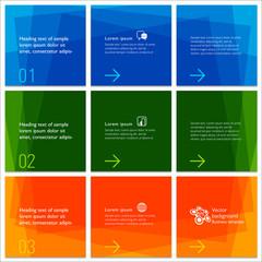 Infographics Web Banner & Grid Design