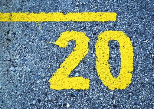 yellow number twenty