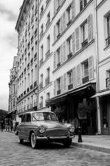 Old street in Paris France