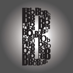 letter B . Vector illustration
