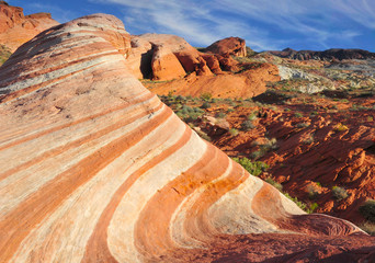 eroded sandstone Red rock Canyon, Las Vegas, Nevada