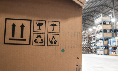 The symbol boxes in the warehouse